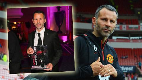 """Giggs nhận giải thưởng """"Huyền thoại bóng đá"""""""