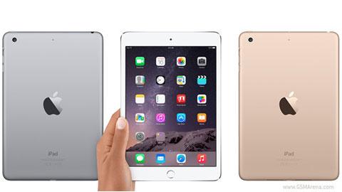 iPad mini 3 có Touch ID và tùy chọn vỏ vàng Gold trình làng