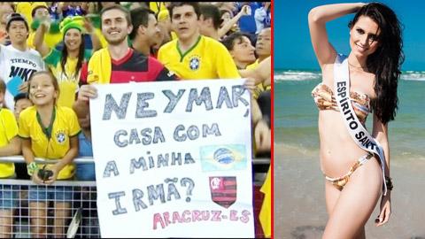 Fan cầu hôn Neymar cho em gái