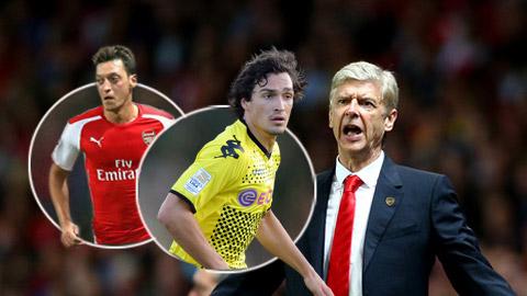Arsenal bán Oezil cho Man City để chi đậm mua Mats Hummels?