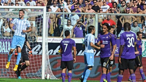 Fiorentina 0-2 Lazio: Công đầu thuộc về Candreva