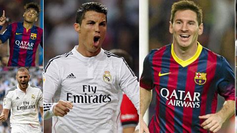 Hàng công BBC của Real và MNS của Barca