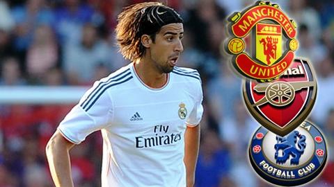 M.U giành Khedira với Arsenal và Chelsea