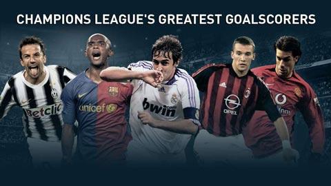 Chùm ảnh những chân sút vĩ đại nhất Champions League