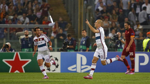 Tường thuật Roma 1-7 Bayern