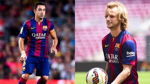 Hàng tiền vệ Barca: Chọn Xavi hay Rakitic?