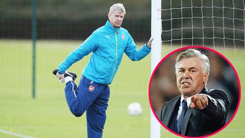 Arsenal nhắm Ancelotti phòng Wenger ra đi