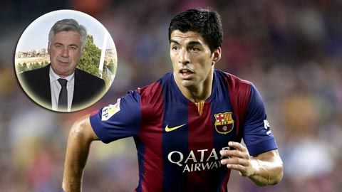 """Ancelotti """"lạnh tanh"""" trước sự trở lại của Suarez"""