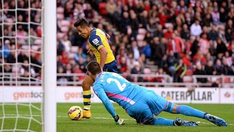 Sunderland 0-2 Arsenal: Sanchez tỏa sáng