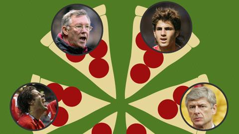 """Vén bức màn vụ """"Pizza-gate"""" giữa M.U và Arsenal cách đây 10 năm"""
