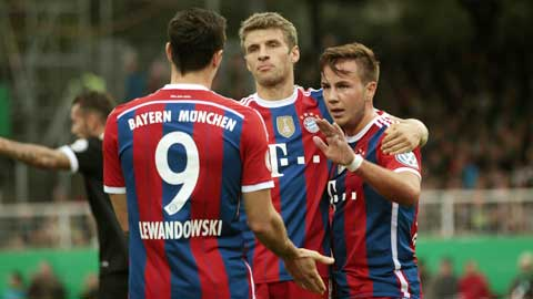 23h30 ngày 26/10, M'gladbach vs Bayern: Hùm quá mạnh!