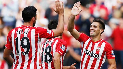 Southampton leo lên vị trí thứ 2 Premier League: Che mờ các đại gia!