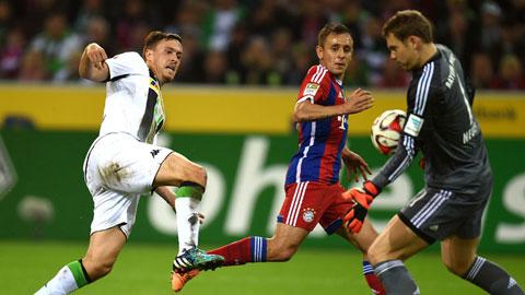 M'gladbach 0-0 Bayern: Neuer giúp Bayern giành điểm