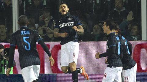 Tường thuật loạt trận vòng 8 Serie A 2014/15: Hơn người, Inter vẫn thắng nhọc