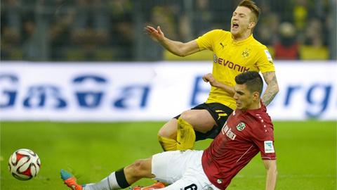 Dortmund bị Hannover hạ gục 0-1: Thảm hại Dortmund