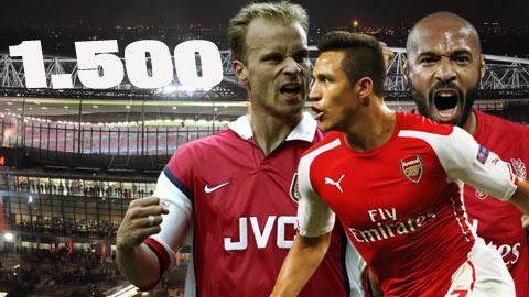 Arsenal theo bước M.U cán mốc 1500 bàn ở Premier League