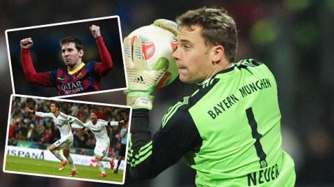 Quả bóng vàng 2014: Cơ hội của Neuer lớn hơn Ronaldo và Messi?