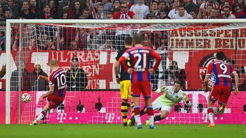 Bayern 2-1 Dortmund: Ngược dòng ấn tượng
