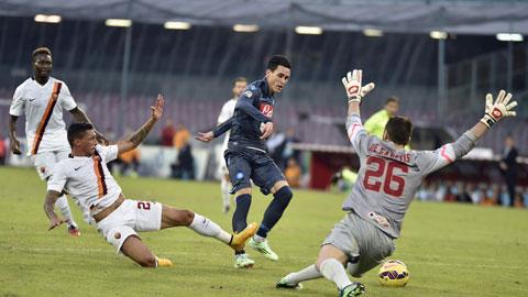 Napoli 2-0 Roma: Bão nhấn chìm Roma