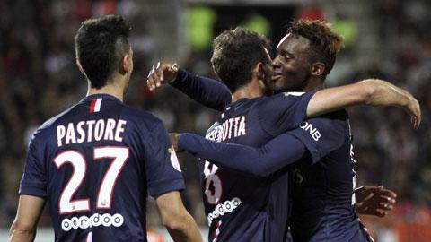 PSG giữ mạch thắng bám Marseille