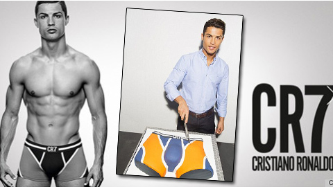 Ronaldo kỷ niệm 1 năm ngày ra sản phầm đồ lót thương hiệu CR7