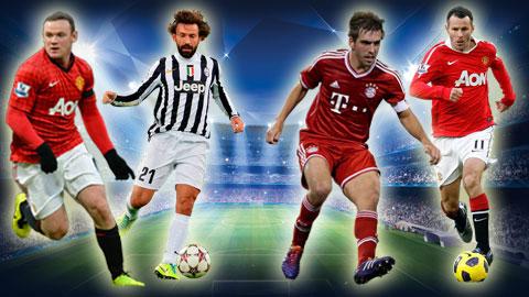 Những chân chuyền xuất sắc nhất lịch sử Champions League