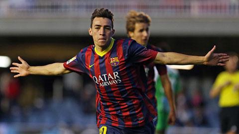 Arsenal tiếp cận sao trẻ của Barca