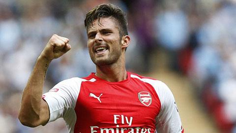 Arsenal đón tin vui: Giroud trở lại trong trận đại chiến với M.U