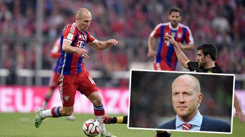 Robben được xếp ngang hàng với Ronaldo và Messi