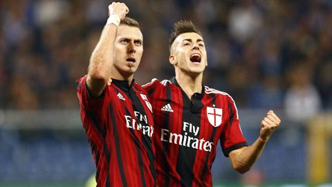 Sampdoria 2-2 Milan: Đội khách lỡ cơ hội vào top 4