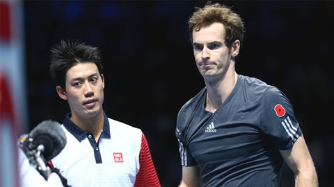 Vòng bảng ATP World Tour Finals: Murray bại trận dưới tay Nishikori ở trận mở màn
