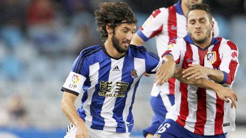 Atletico thua sốc Sociedad: Cú ngã của nhà vua