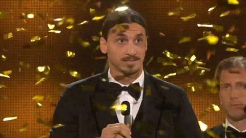 Ibra 8 lần liên tiếp nhận danh hiệu Cầu thủ xuất sắc nhất Thụy Điển