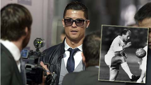 Ronaldo tri ân huyền thoại Real trong lễ nhận giải thưởng cá nhân