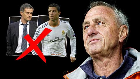 """""""Thánh Johan"""" không tin Laporta đưa được Mourinho và Ronaldo về Barca"""