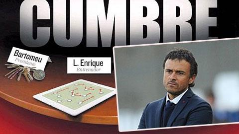 HLV Luis Enrique không lo bị Barca sa thải