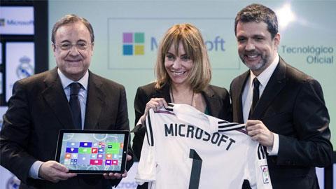 Microsoft cung cấp sản phẩm và dịch vụ cho Real Madrid