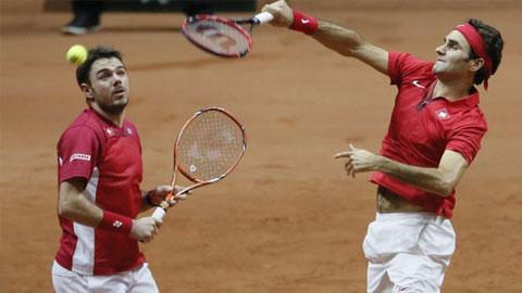 Chung kết Davis Cup (ngày 2): Federer chuộc lỗi, Thụy Sỹ dẫn Pháp 2-1