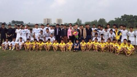 Chủ tịch VFF thăm 2 trung tâm đào tạo trẻ tại Hà Nội