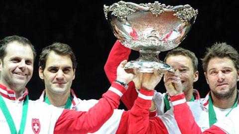 Federer đưa Thụy Sỹ lần đầu tiên đăng quang tại Davis Cup