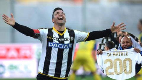 Tường thuật loạt trận Chủ nhật vòng 12 Serie A 2014/15: Di Natale đạt 200 bàn, Napoli sẩy chân