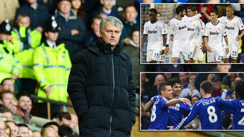 """Mourinho liên hệ Chelsea hiện tại với Real """"100 điểm"""""""