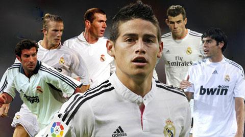 James Rodriguez làm lu mờ các tiền vệ siêu sao của Real