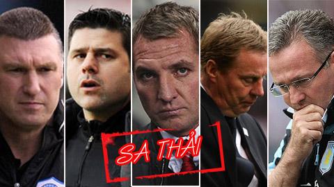 Top 5 HLV có nguy cơ bị sa thải cao nhất ở Premier League