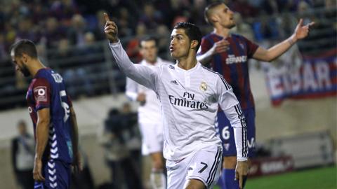 Ronaldo ghi bàn nhiều hơn 75% đội bóng ở 5 giải hàng đầu châu Âu