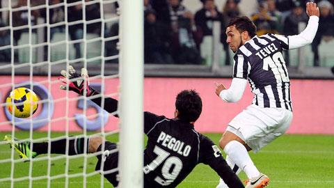 Tevez thăng hoa tại Juventus