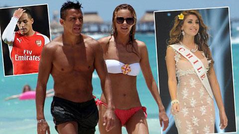 Alexis Sanchez bị tố gạ gẫm cựu hoa hậu Chile sau lưng bạn gái