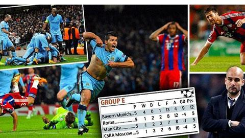 Chấm điểm trận Man City 3-2 Bayern: Aguero sáng nhất