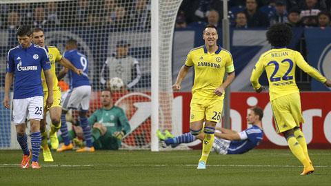 Niềm vui sau khi ghi bàn của Terry