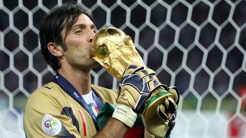 Gianluigi Buffon nhắm kỷ lục 6 lần dự World Cup